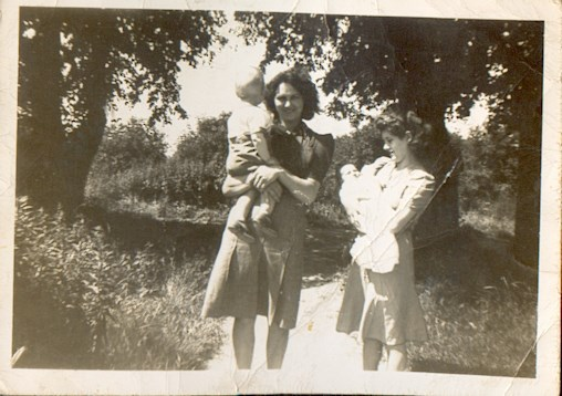 Barbara (left) with son Philip. Eva (right) with daughter, Veronica