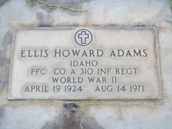 Ellis Adams' Gravestone, Emmett, Gem County, Idaho