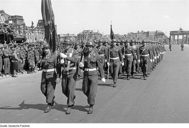 78th Infantry Division. On parade in Berlin, 8 May 1946