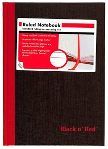 Black N Red Casebound Notebook