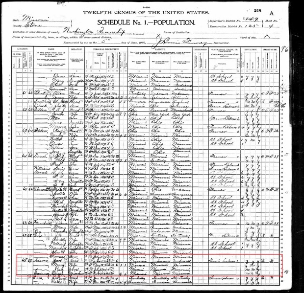 Jake in 1900 US Census