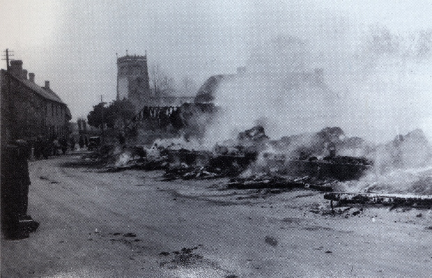 Scene after the fire