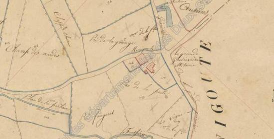 Napoleonic cadastral map 1833. Archives départementales des Deux-Sèvres