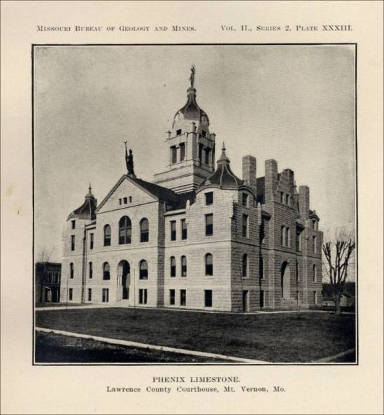 Lawrence County Courthouse (from Missouri Marble, by Norman S. Hinchey)