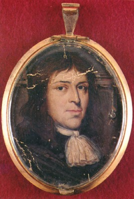 Samuel Parris, 1653-1720, puritan minister in Salem Village during the Salem witch trials; original in the collection of the Massachusetts Historical Society
