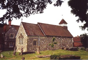 St Andrew's Old Church, Bemerton in 1994. © Copyright Nick Macneill and licensed for reuse under this Creative Commons Licence