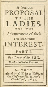 Title page from the third edition of A Serious Proposal