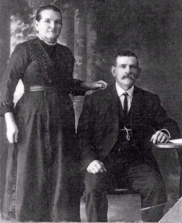 Martha Smith with husband/nephew William Romans
