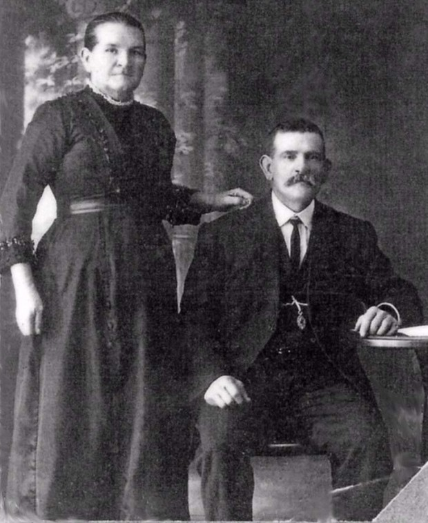 Martha Smith with husband/nephew William Romans